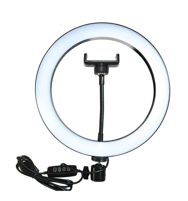 26CM LED STUDIO CAMERA RING LIGHT PHOTOGRAPHY WITH MOBILE HOLDER