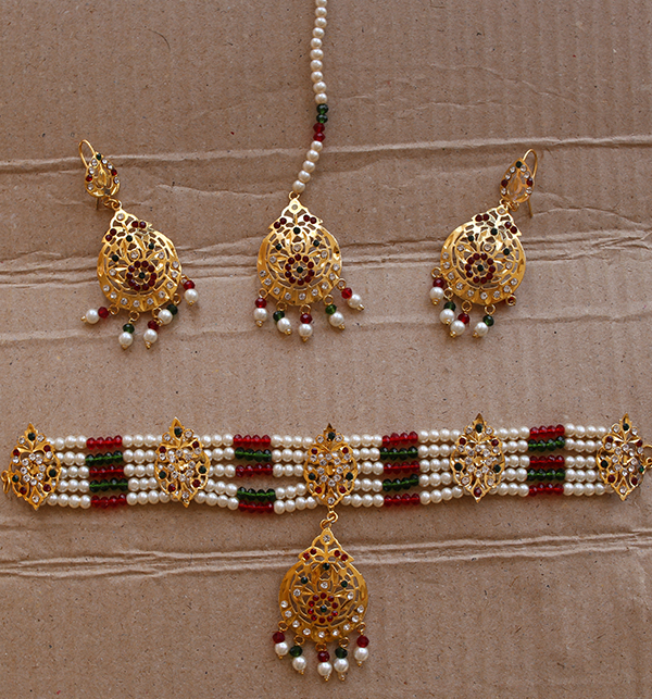 Hyderabadi Necklaces Set With Earring & Matta Patti (PS-227)
