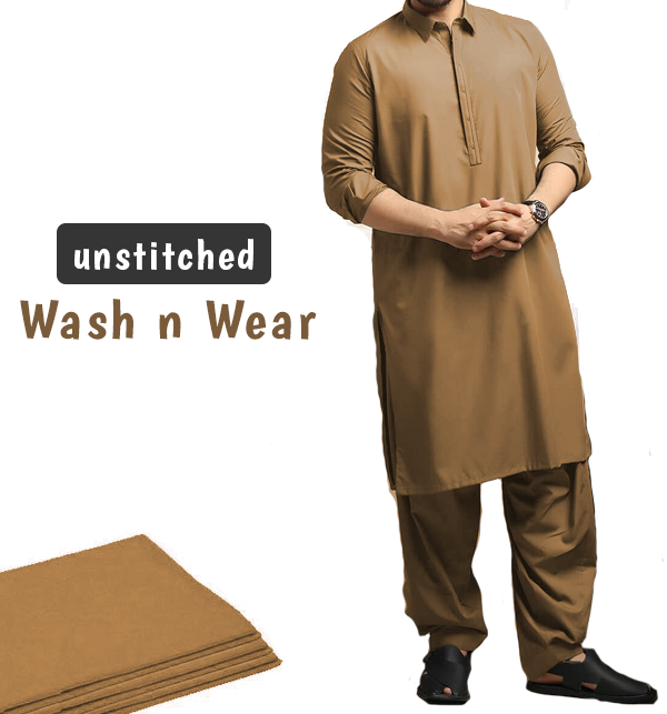 Fine Quality Soft Wash n Wear Unstitched Men